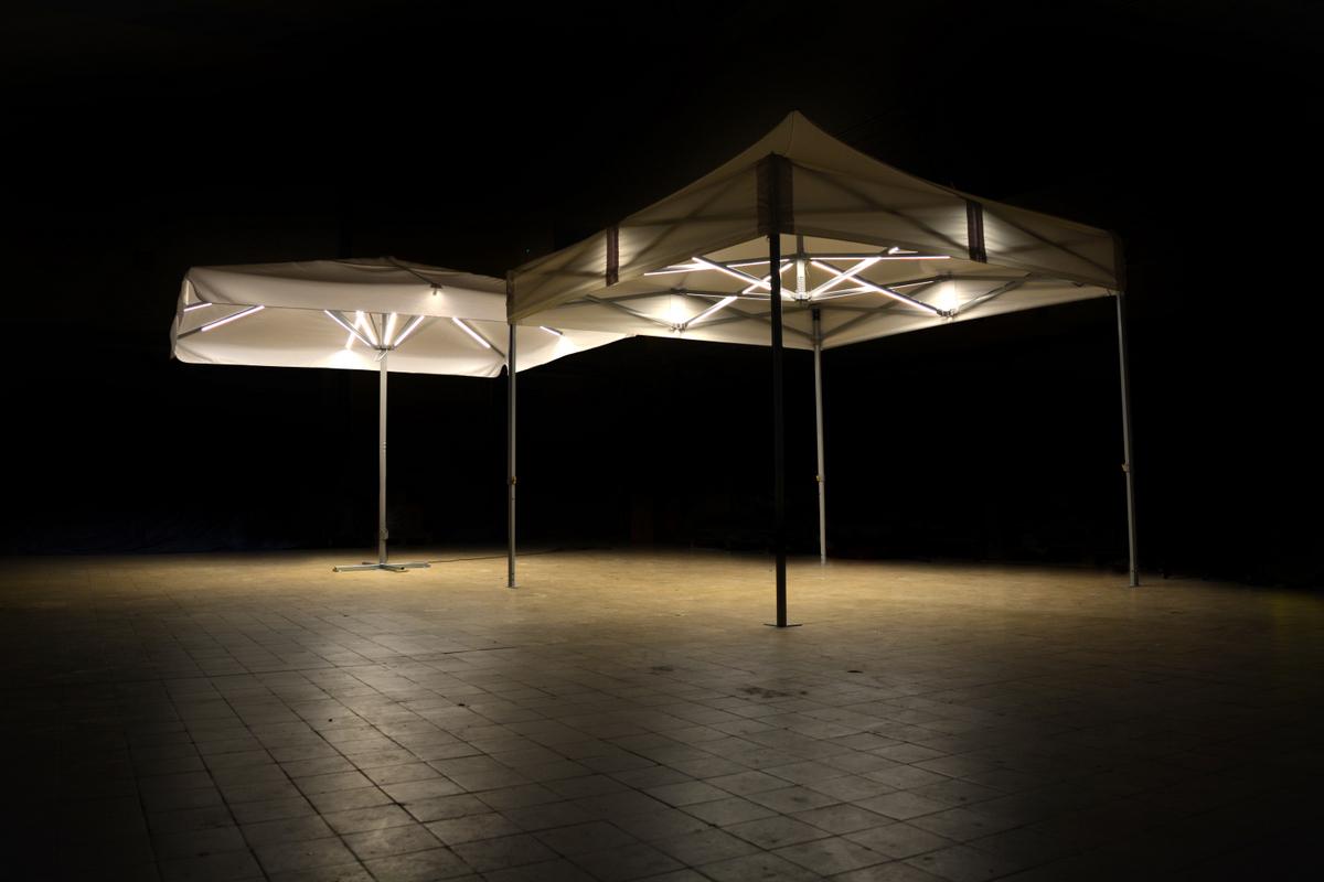 Super LED Beleuchtung für Faltzelte und Schirme