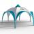 Dome M6 – Neues Messezelt mit 6 Eingängen und großer Druckfläche